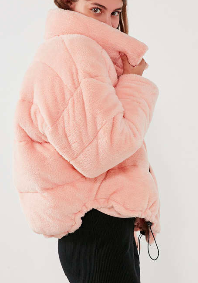 Light Before Dark Teddy Puffer Jacket