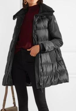 Altona Water Resistant 750-Fill Power Down Parka with Genuine Shearling Collar