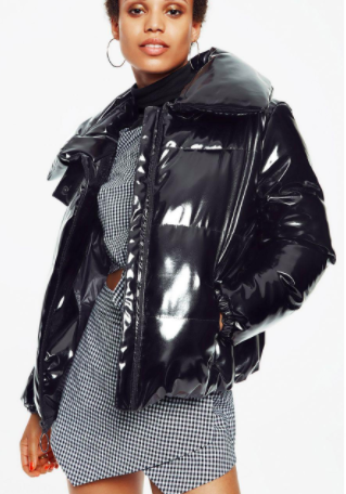 Shiny Puffer Jacket KENDALL + KYLIE