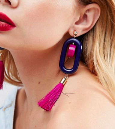 ASOS Resin Tassel Drop Earrings