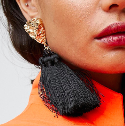 ASOS Statement Nugget Tassel Earrings