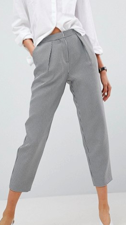 ASOS Tailored Tapered Houndstooth Check Pant