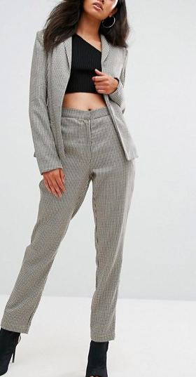 Missguided Houndstooth Check Blazer