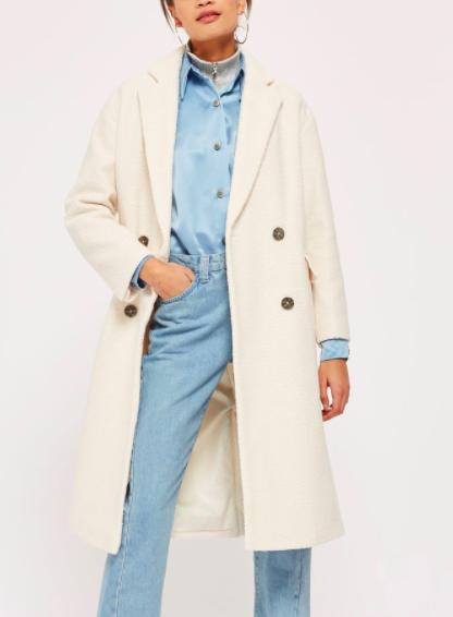 Topshop Premium Oversized Texture Coat
