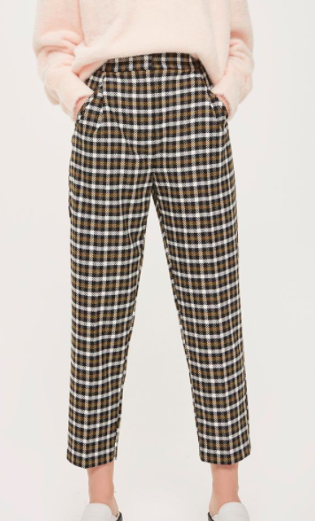 Topshop Checked Peg Pants