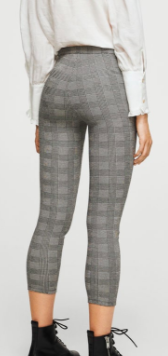 Mango Check pattern leggings