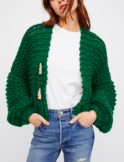 FP Cropped Cable Cardi
