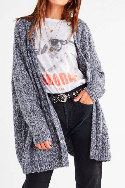 UO Kimono Cable Knit Cardigan