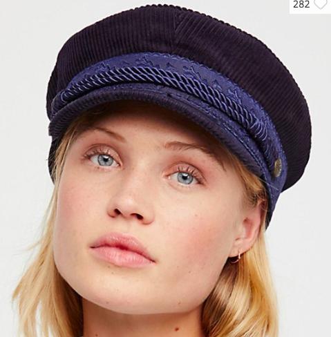 Brixton Albany Cord Lieutenant Hat