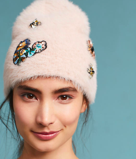 Anthropologie Well-Embellished Beanie