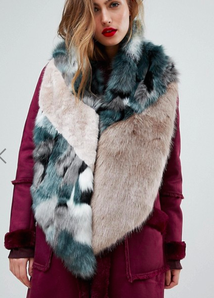 River Island Mixed Faux Fur Stole