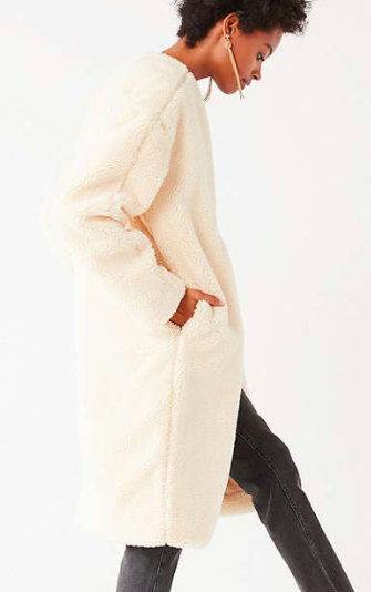 UO Ina Faux Sherpa Over Coat