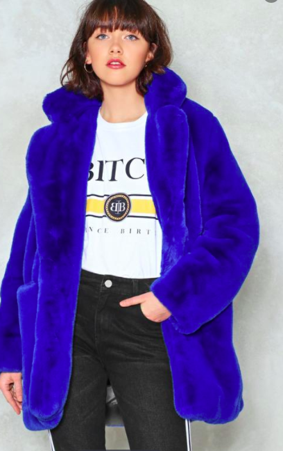NAsty GAl Surfin' Bird Faux Fur Coat