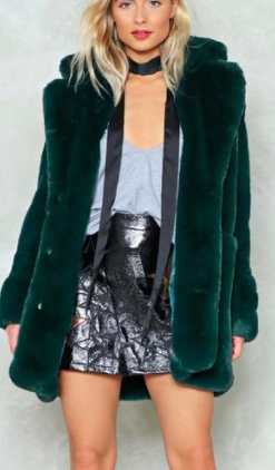 Nasty Gal Fux Fur Coat