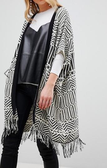 New Look Jacquard Blanket Cardi