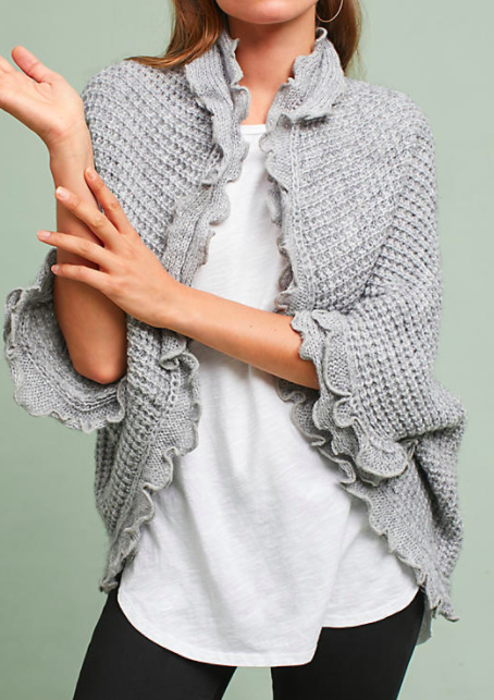 MOTH Rocia Ruffled Cardigan
