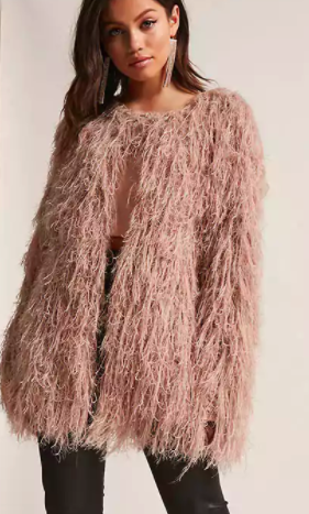 FOREVER 21 Shaggy Sweater-Knit Cardigan