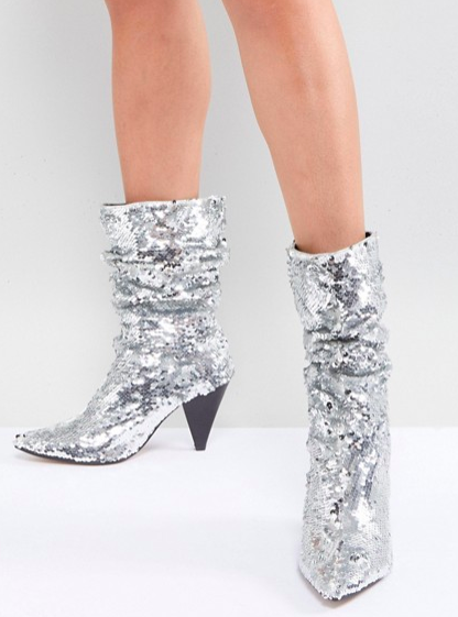 River Island Slouch Sequin Boots