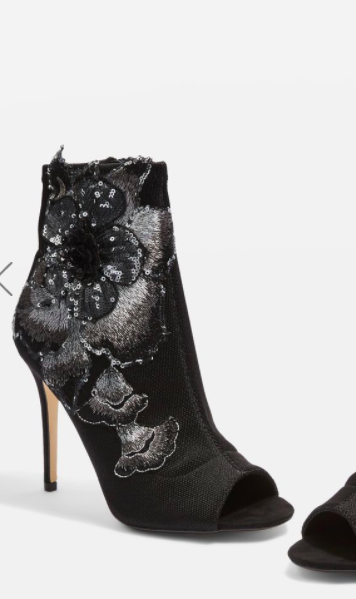 Topshop Rosita Stretch Ankle Boots