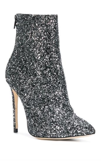MARC ELLIS glitter ankle boots