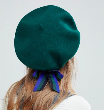 ASOS Wool Beret With Bow