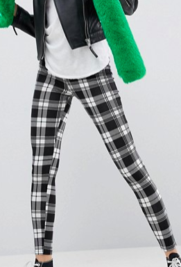 ASOS Leggings in Mono Check Print