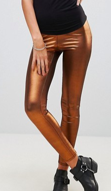 Free People Shine Girl Metallic Leggings