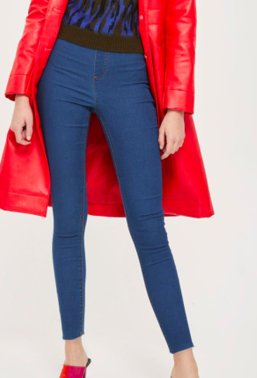 Topshop Raw Hem Denim Leggings