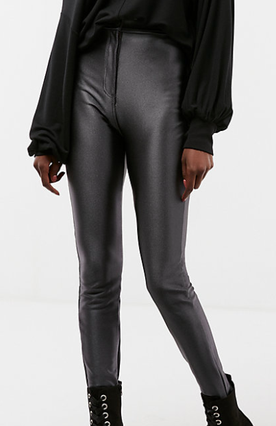 Express High Waisted Satin Leggings
