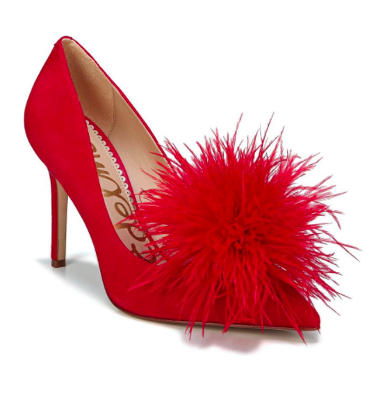 Haide Feather Pompom Pump SAM EDELMAN