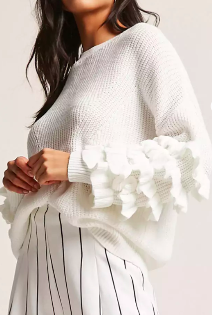 Forever 21 Ruffle Sleeve Sweater