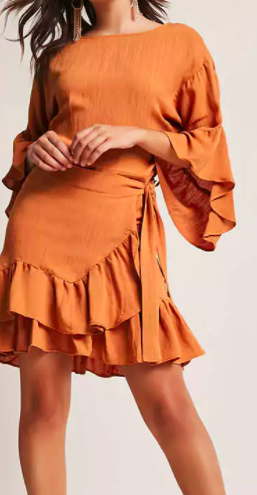 Forever 21 Ruffle Bell-Sleeve Dress