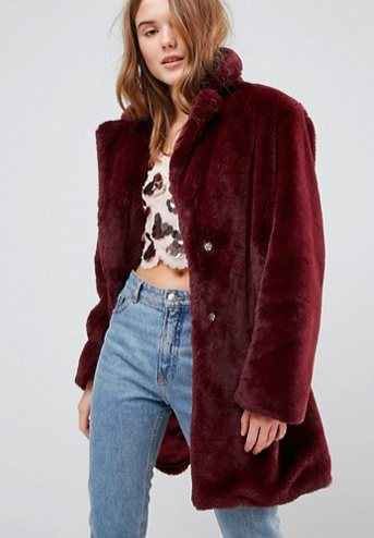 New Look Faux Fur Midi Coat
