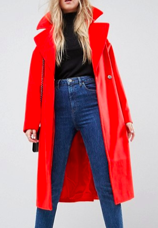 ASOS Oversized Coat with Pocket Detail