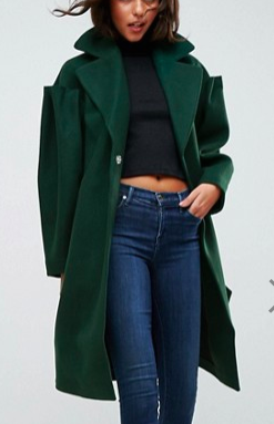 ASOS Slim Coat with Statement Sleeve