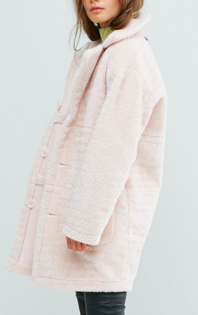 Miss Selfridge Exclusive Reversible Faux Shearling Coat
