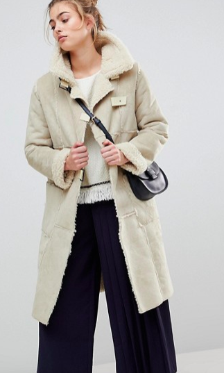 Moon River Fleece Lined Duffle Coat