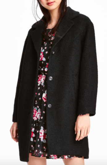 HM Wool-blend Bouclé Coat
