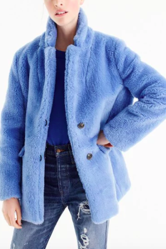 J.CREW The Teddy coat in plush fleece