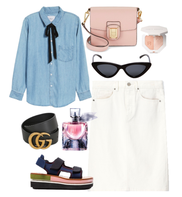 One White Denim Skirt, Styled 3 ways | TrufflesandTrends.com