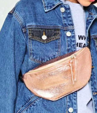 WANT Keep Your Friends Close Metallic Fanny Pack
