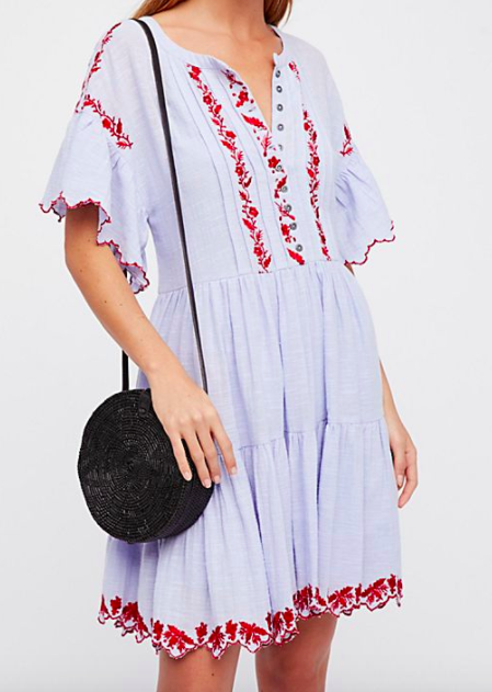 FP Santiago Embroidered Mini Dress