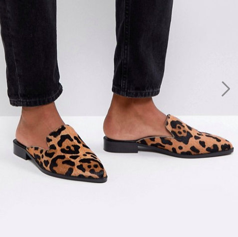 ASOS MALICE Leather Pointed Mules