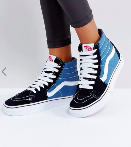 Vans Classic Sk8 Hi Sneakers In Blue And Black