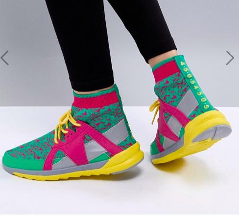 ASOS 4505 Multi Sneaker With Sock Detail