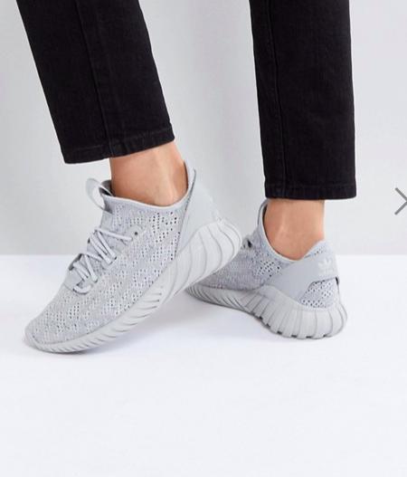 adidas Originals Tubular Doom Sock Sneakers In Gray