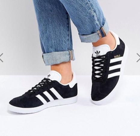 adidas Originals Black Suede Gazelle Sneakers