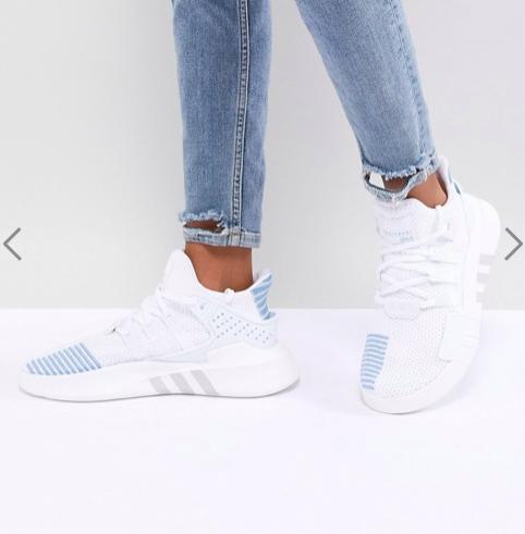 adidas Originals EQT Basket Adv Sneakers In White