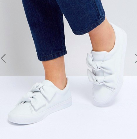 ASOS DITZY Bow Sneakers