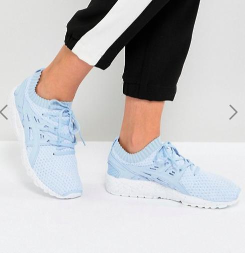 Asics Gel-Kayano Sneaker Knit Sneakers In Sky Blue
